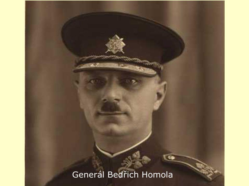 a Gen. Bedřich Homola Generál Bedřich Homola