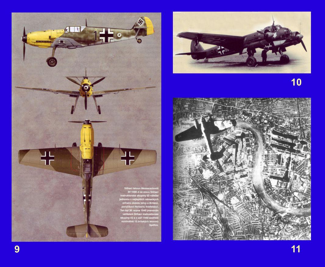 Komentář k obrázkům: 1 – úvod 2 – úvod 3 – Titul – Život v bombardované Británii 4 – V obavě z německého vylodění, byly v Anglii odstraněny směrovky od silnic, aby byla ztížena orientace případných agresorů.
