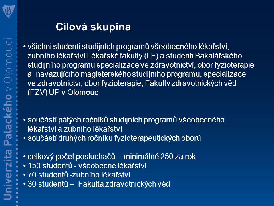 Hlavní řešitel: MUDr.Ludíková Barbora Odborný garant - prof.