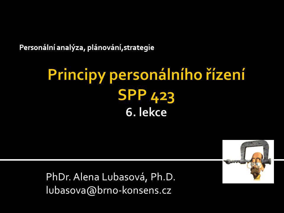 Personální analýza, plánování,strategie PhDr. Alena Lubasová, Ph.D. lubasova@brno-konsens.cz