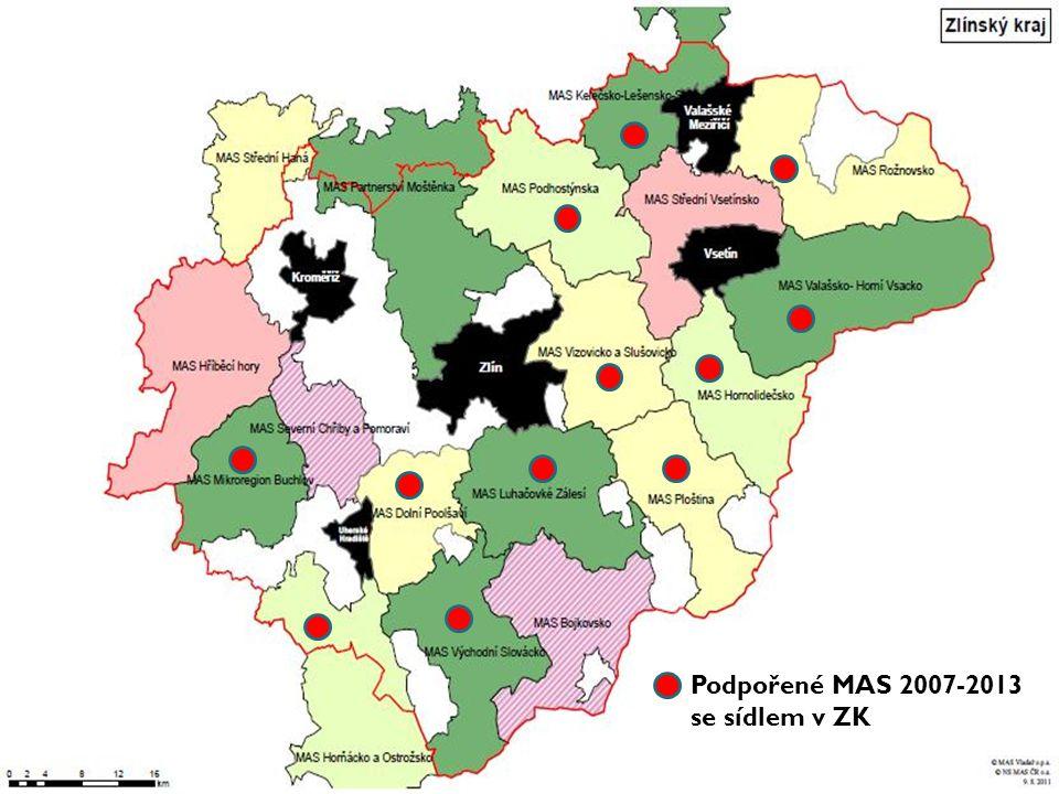 Podpořené MAS 2007-2013 se sídlem v ZK