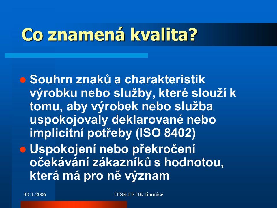 30.1.2006ÚISK FF UK Jinonice Projekt – NK ČR– využití metody benchmarkingu pro hodnocení knihoven PhDr.