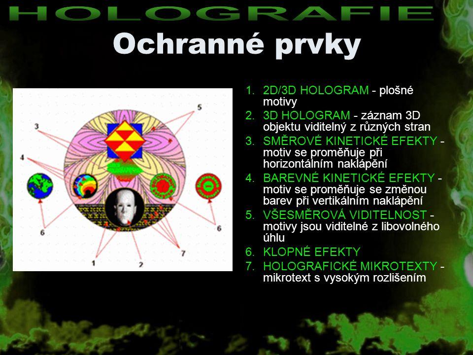 Ochranné prvky Česká firma Optaglio s.r.o.–V současné době využívá firma Optaglio s.r.o.