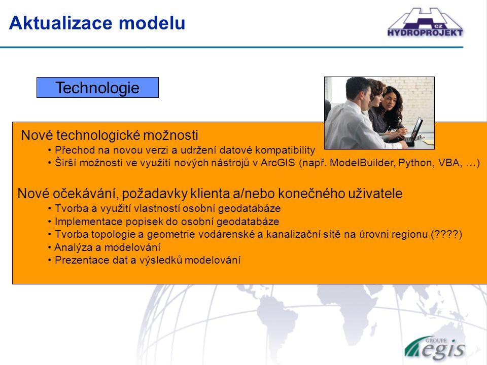 Technologie Nové technologické možnosti Přechod na novou verzi a udržení datové kompatibility Širší možnosti ve využití nových nástrojů v ArcGIS (např.