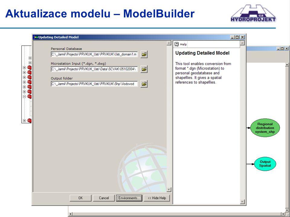 Aktualizace modelu – ModelBuilder