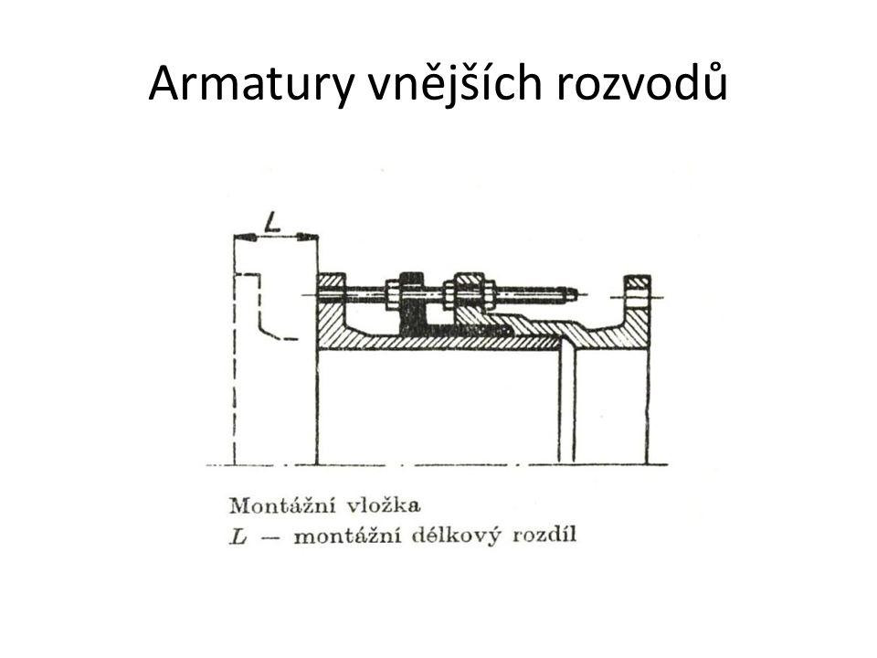 Ostatní armatury Redukční ventily se používají u přiváděcích a zásobních řadů v úsecích rozdělujících jednotlivá tlaková pásma.