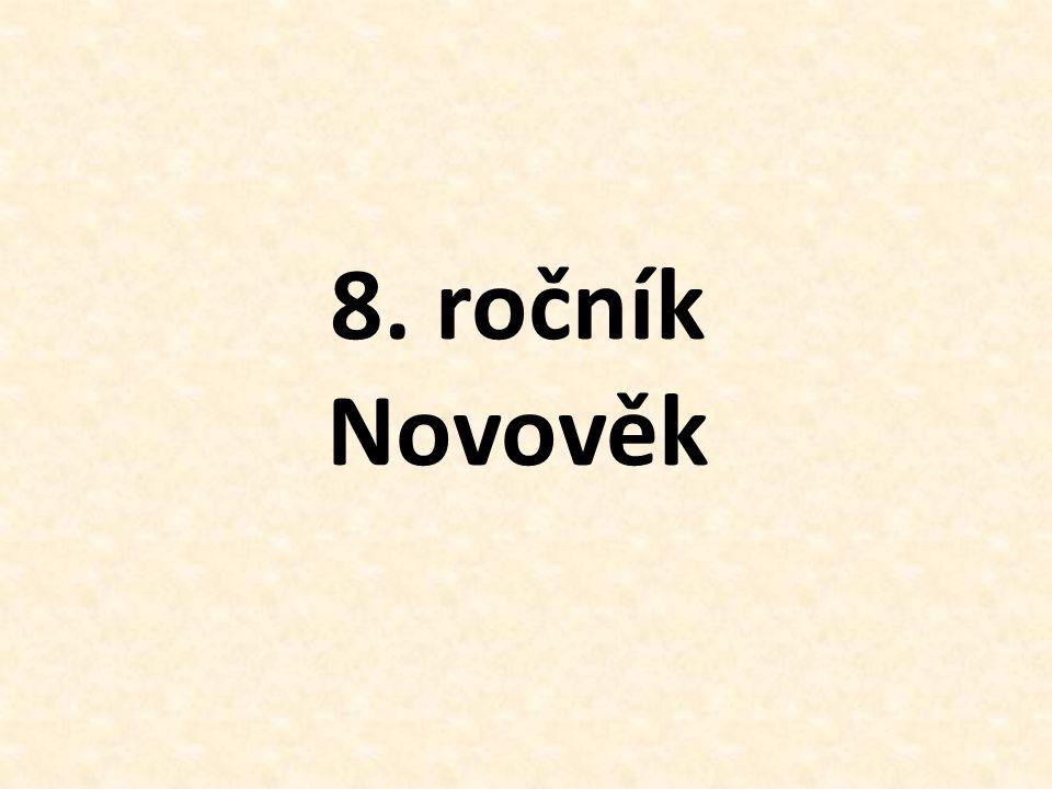 8. ročník Novověk