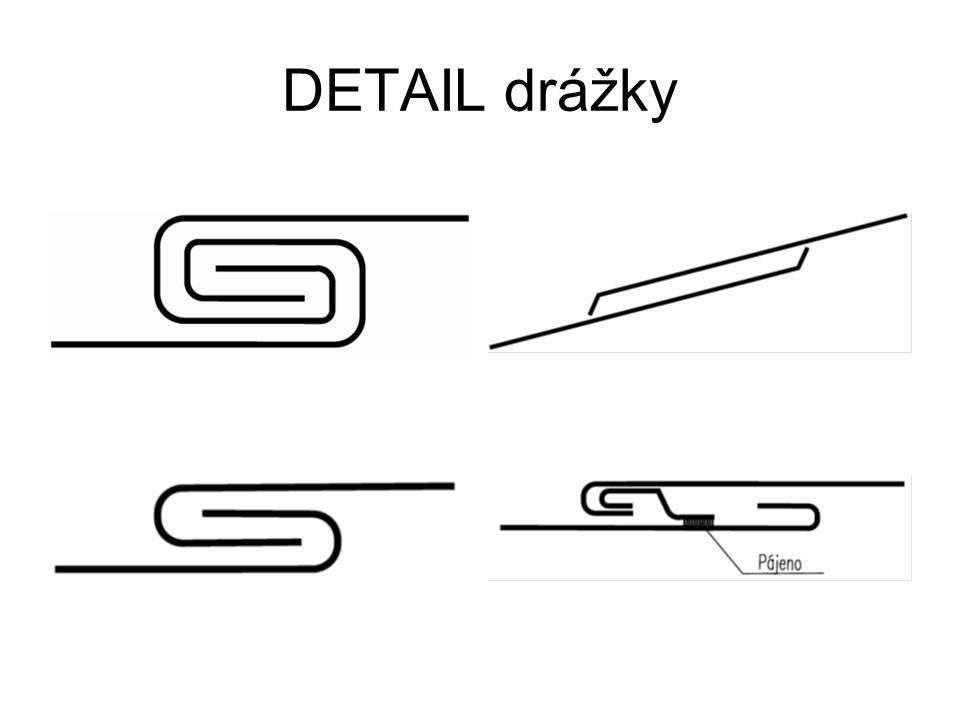 DETAIL drážky