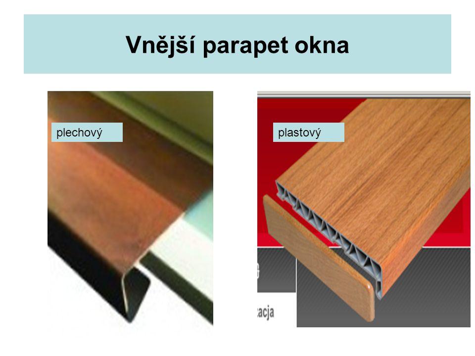 Vnější parapet okna plechovýplastový