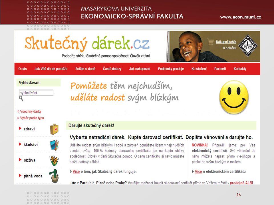 www.econ.muni.cz 26