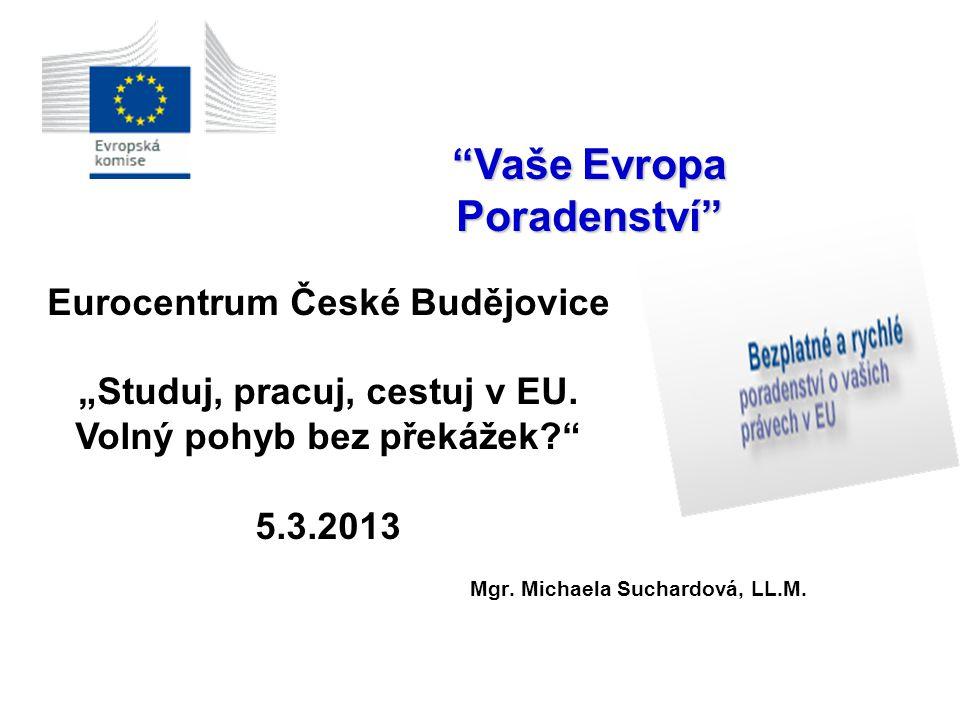 Vaše Evropa Poradenství Mgr. Michaela Suchardová, LL.M.