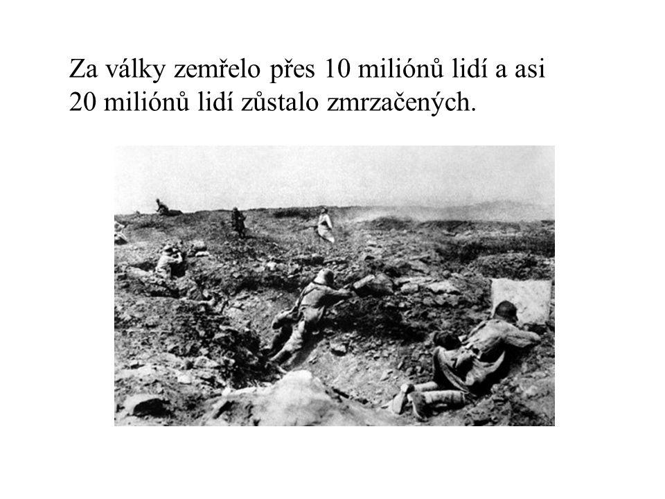 Za války zemřelo přes 10 miliónů lidí a asi 20 miliónů lidí zůstalo zmrzačených.