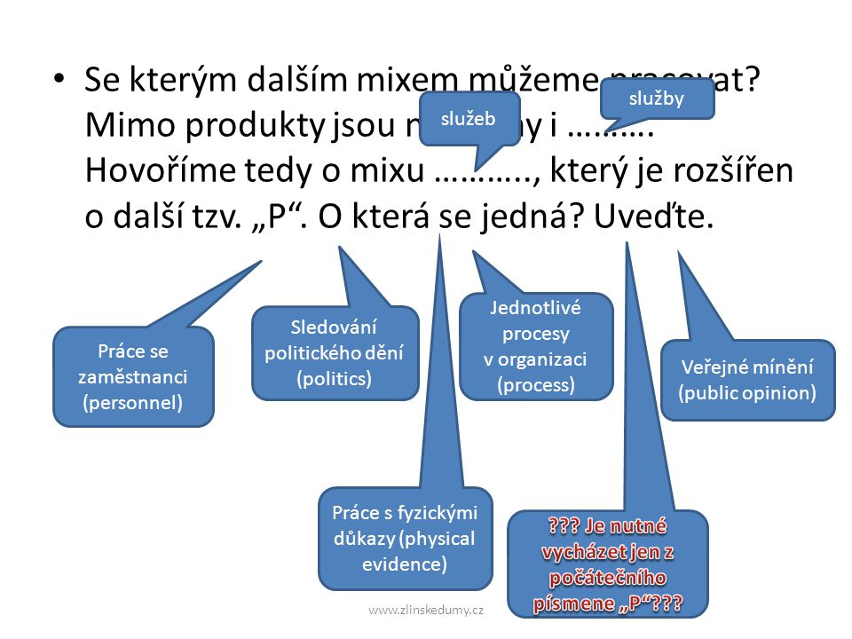 Použité zdroje NĚMEC, Robert.Marketingový mix: jeho rozbor, možnosti využití a problémy.