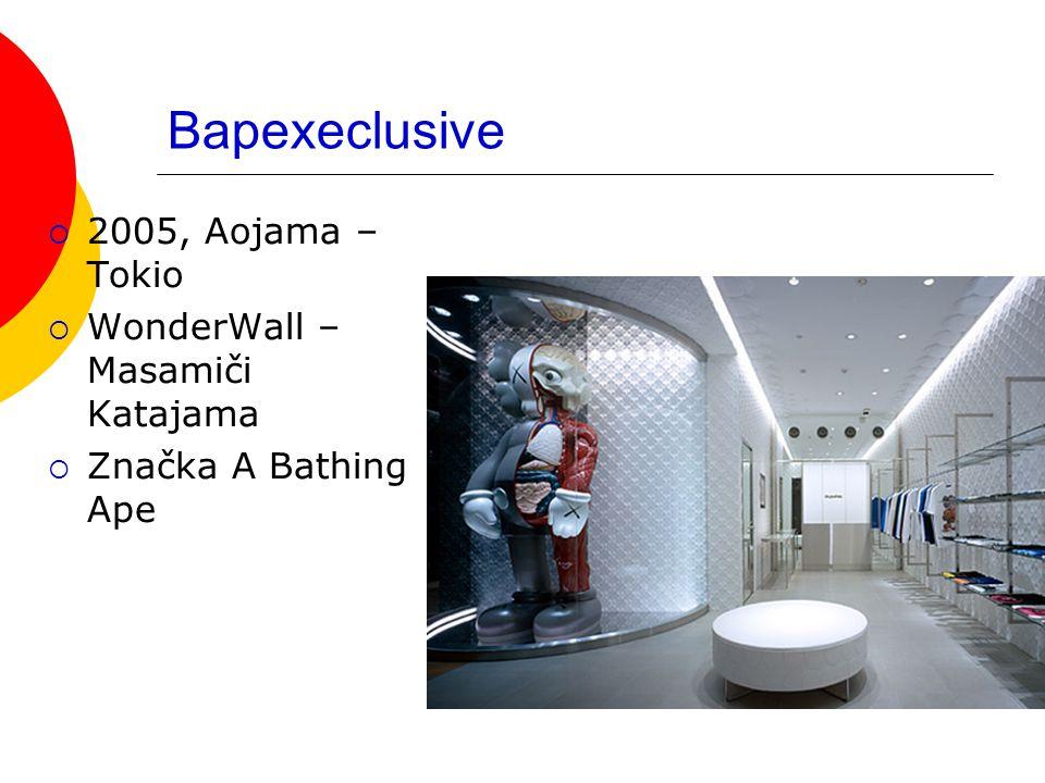 Bapexeclusive  2005, Aojama – Tokio  WonderWall – Masamiči Katajama  Značka A Bathing Ape