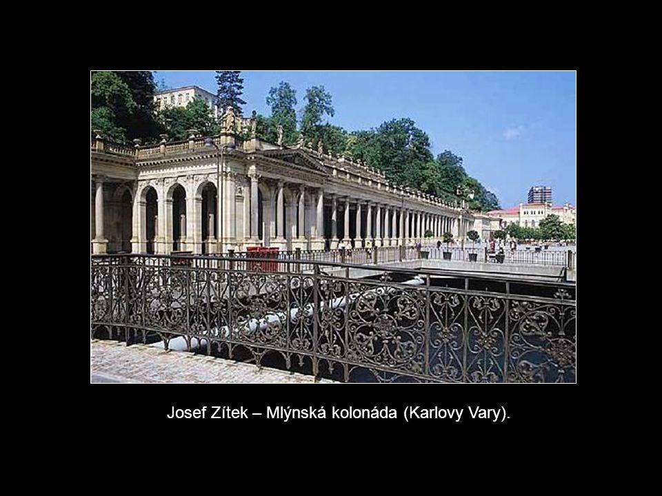 Josef Zítek – Mlýnská kolonáda (Karlovy Vary).