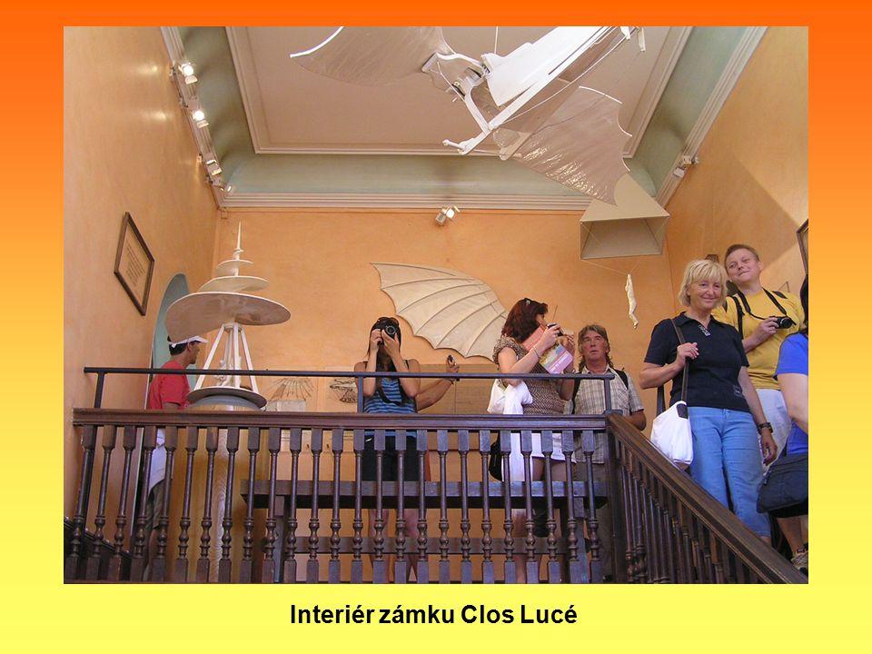 Interiér zámku Clos Lucé