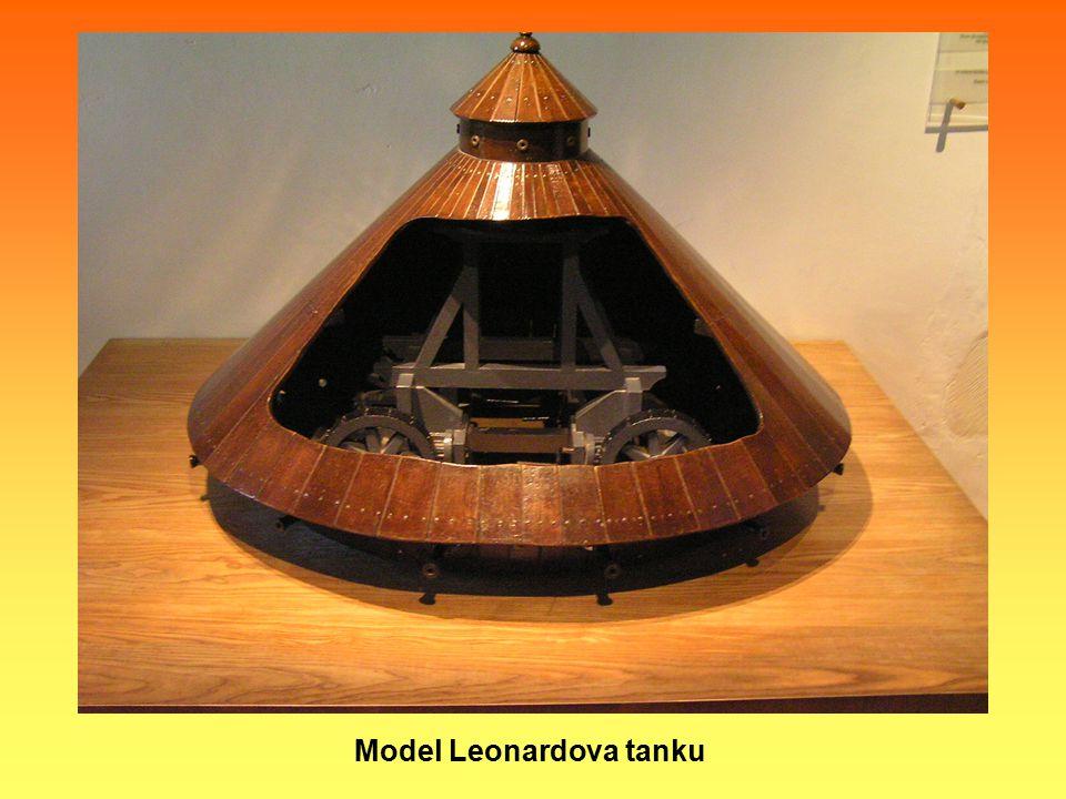 Model Leonardova tanku