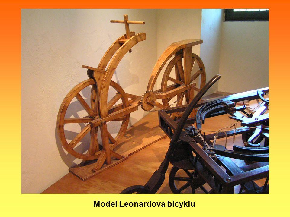 Model Leonardova bicyklu