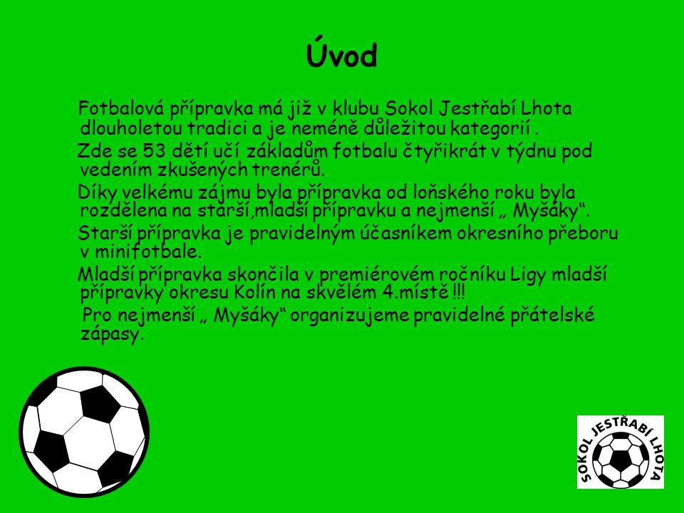 Úvod Fotbalová přípravka má již v klubu Sokol Jestřabí Lhota dlouholetou tradici a je neméně důležitou kategorií.