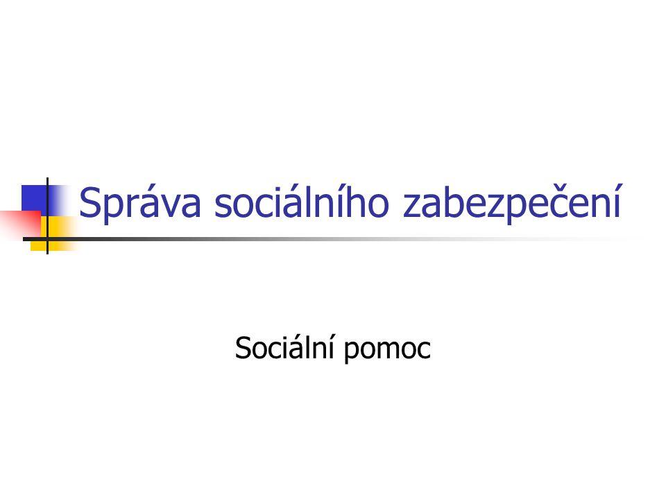 Správa sociálního zabezpečení Sociální pomoc
