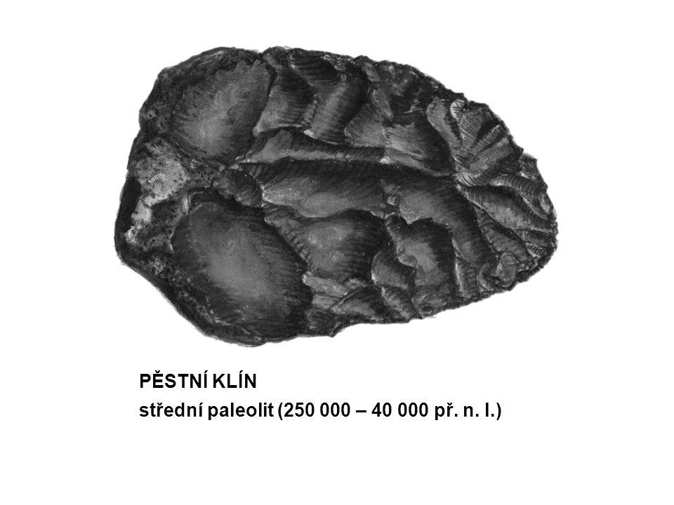 PĚSTNÍ KLÍN střední paleolit (250 000 – 40 000 př. n. l.)