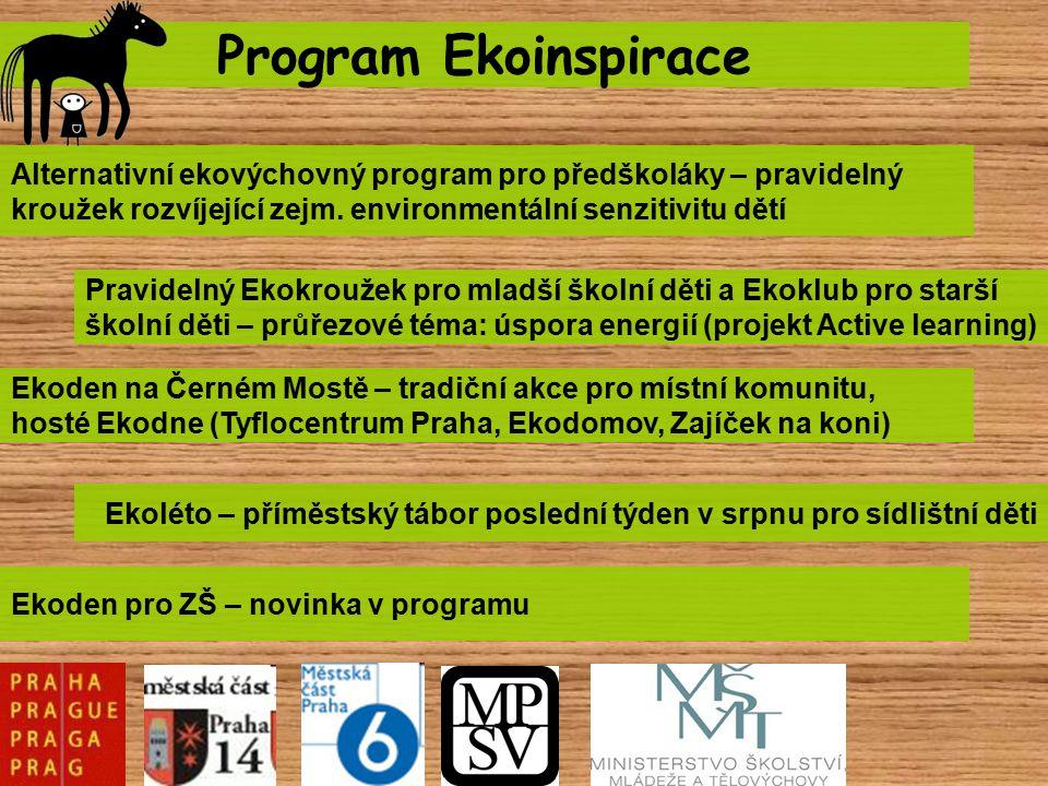 Program Ekoinspirace Alternativní ekovýchovný program pro předškoláky – pravidelný kroužek rozvíjející zejm. environmentální senzitivitu dětí Ekoden n