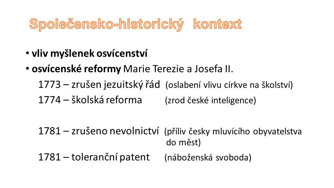 vliv myšlenek osvícenství osvícenské reformy Marie Terezie a Josefa II.
