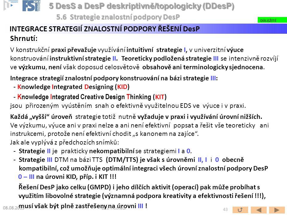 Shrnutí: V konstrukční praxi převažuje využívání intuitivní strategie I, v univerzitní výuce konstruování instruktivní strategie II. Teoreticky podlož