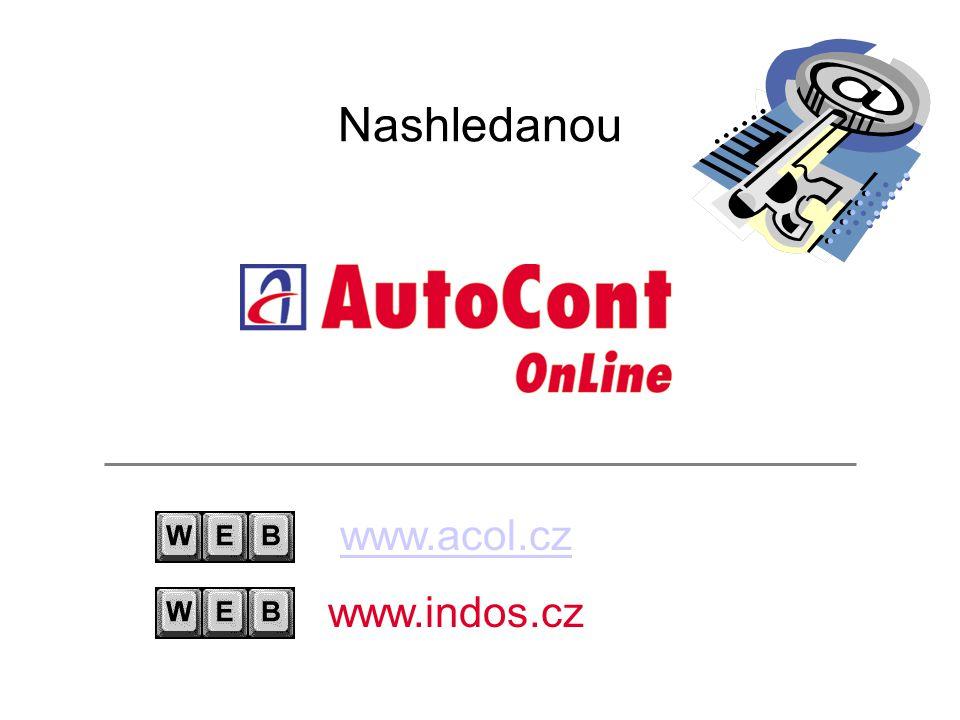 Nashledanou www.acol.cz www.indos.cz