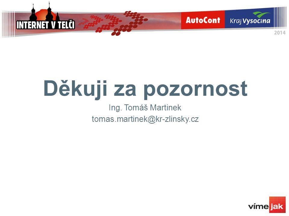 Děkuji za pozornost Ing. Tomáš Martinek tomas.martinek@kr-zlinsky.cz