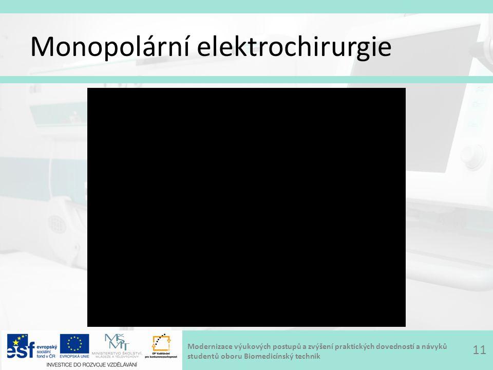 Modernizace výukových postupů a zvýšení praktických dovedností a návyků studentů oboru Biomedicínský technik Monopolární elektrochirurgie 11