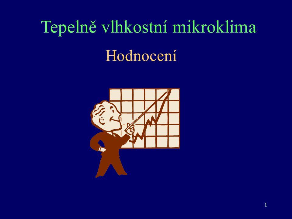 1 Tepelně vlhkostní mikroklima Hodnocení