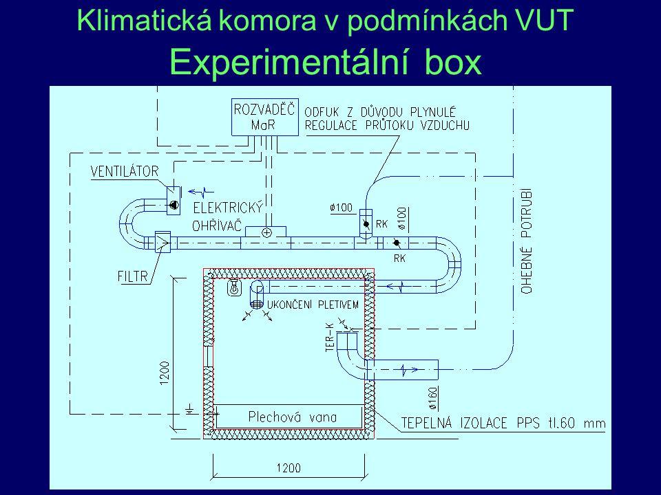 46 Klimatická komora v podmínkách VUT Experimentální box