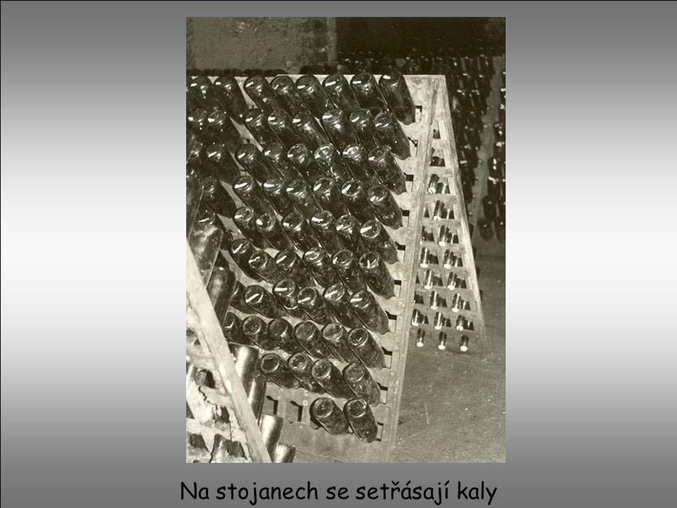 V sklepě při teplotě 12°C zraje víno několik měsíců