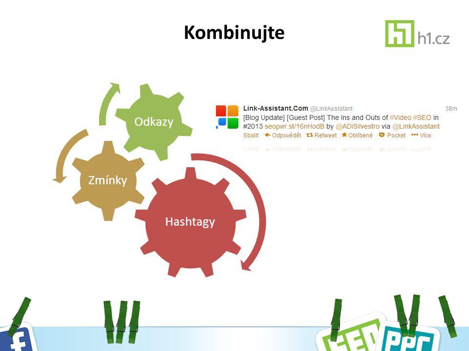 Kombinujte Hashtagy Zmínky Odkazy