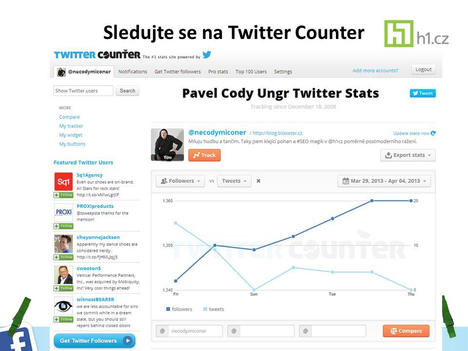 Sledujte se na Twitter Counter
