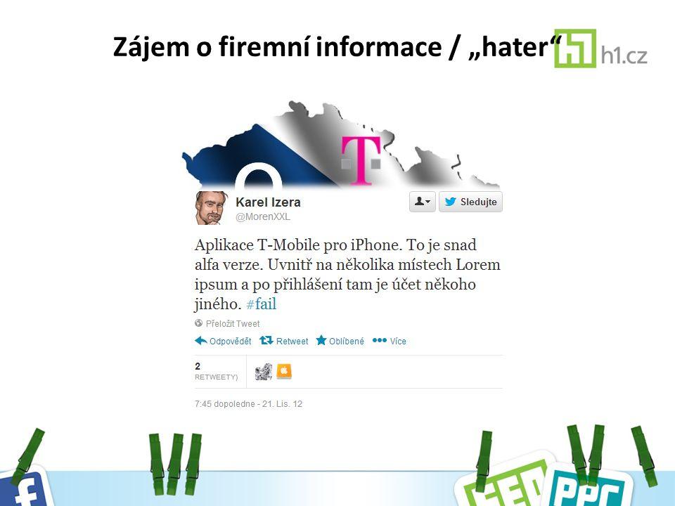 """Zájem o firemní informace / """"hater"""