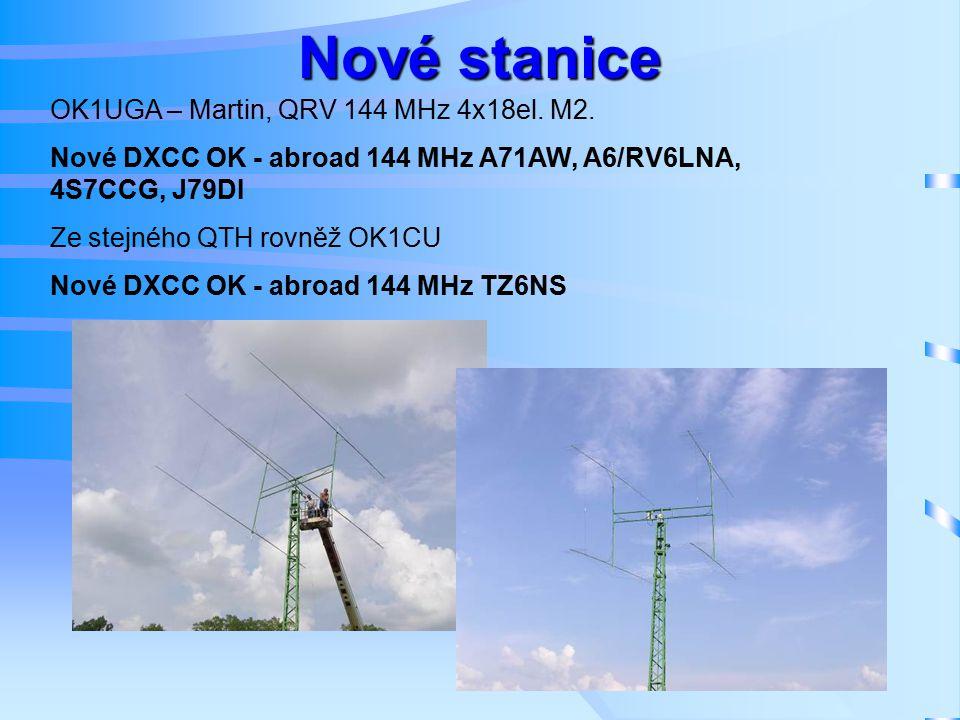 Nové stanice OK1UGA – Martin, QRV 144 MHz 4x18el. M2.
