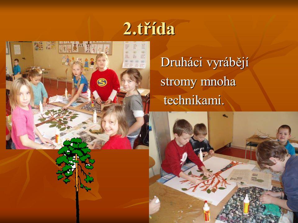 2.třída Druháci vyrábějí Druháci vyrábějí stromy mnoha stromy mnoha technikami. technikami.