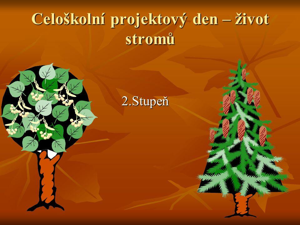 Celoškolní projektový den – život stromů 2.Stupeň 2.Stupeň