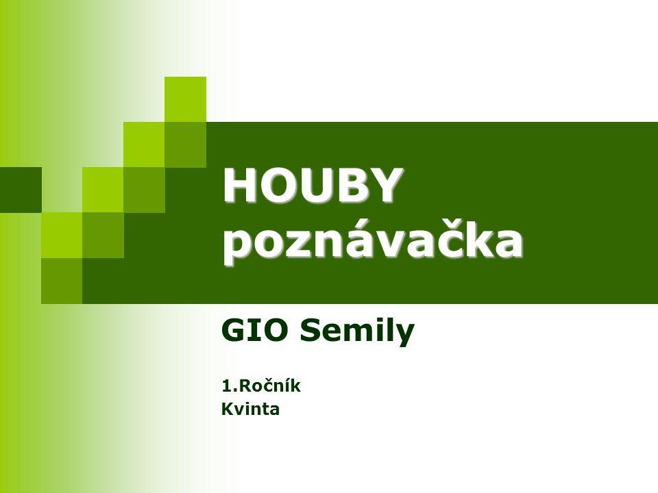HOUBY poznávačka GIO Semily 1.Ročník Kvinta