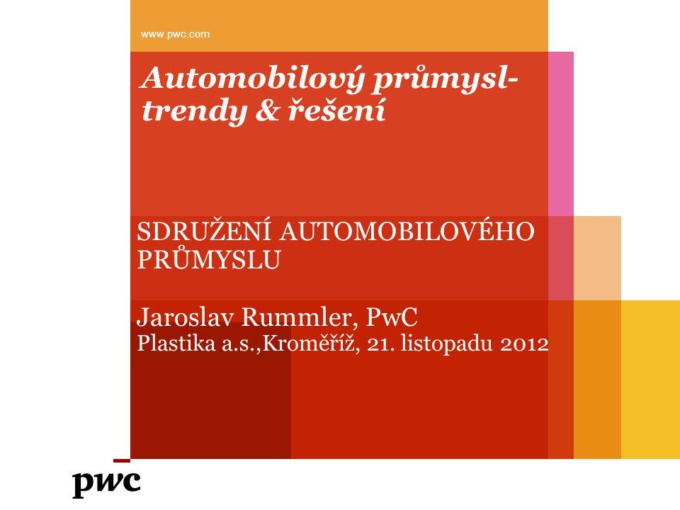 PwC Program Očekávaný vývoj v automobilovém odvětví Výzvy kterým podniky čelí Přístupy k jejich řešení Prostor pro diskuzi