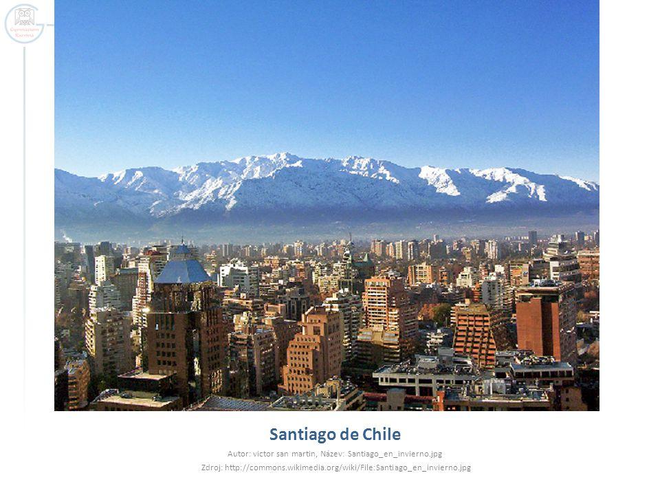 Santiago de Chile Autor: victor san martin, Název: Santiago_en_invierno.jpg Zdroj: http://commons.wikimedia.org/wiki/File:Santiago_en_invierno.jpg