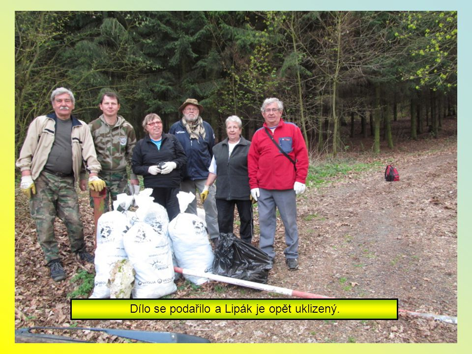 Letos nebylo tolik odpadků po lese.