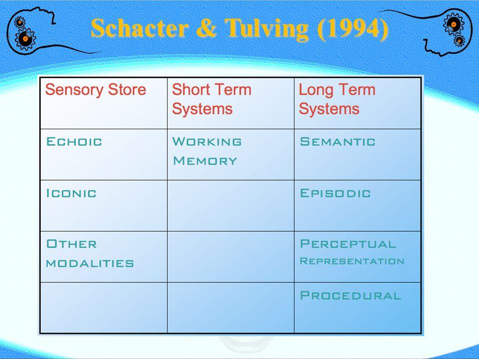 Schacter & Tulving (1994)
