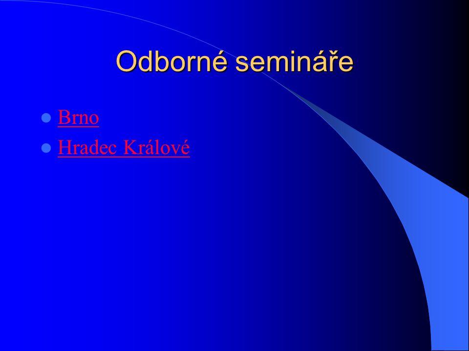 Odborné semináře Brno Hradec Králové
