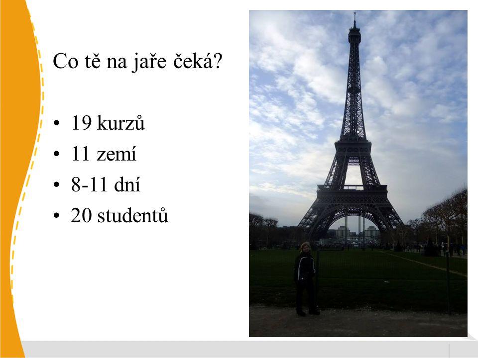 Co tě na jaře čeká 19 kurzů 11 zemí 8-11 dní 20 studentů