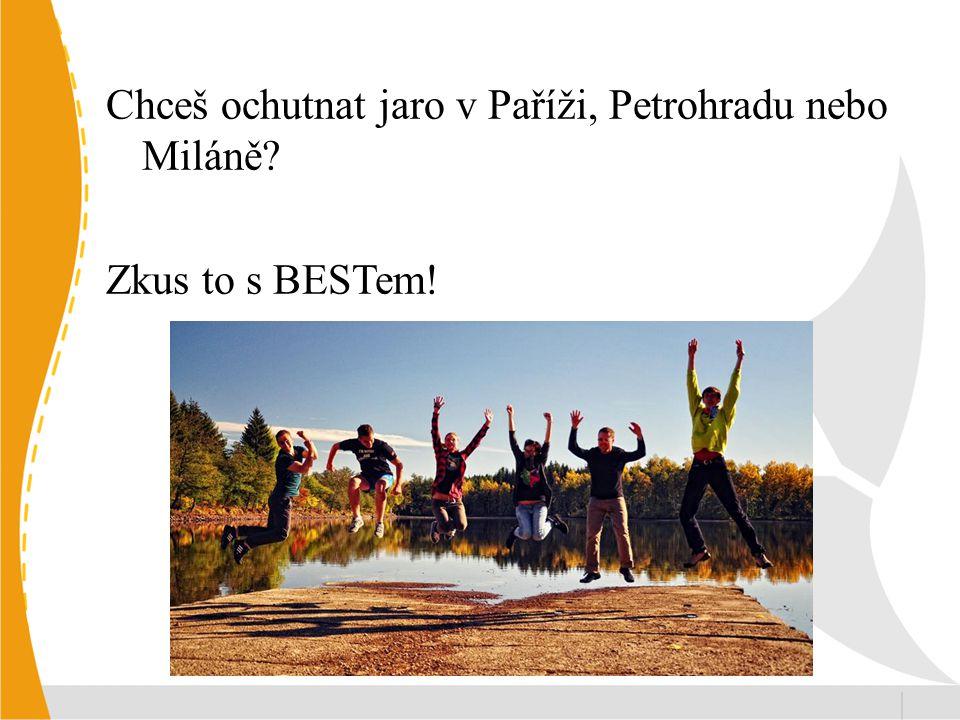 Chceš ochutnat jaro v Paříži, Petrohradu nebo Miláně Zkus to s BESTem!