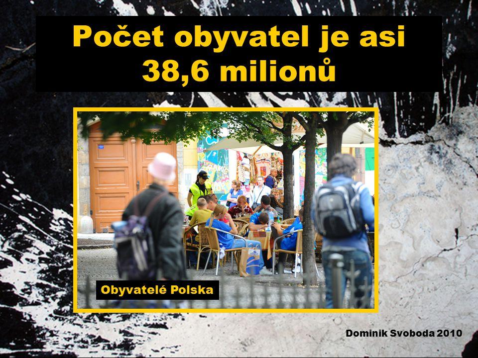 Počet obyvatel je asi 38,6 milionů Obyvatelé Polska Dominik Svoboda 2010