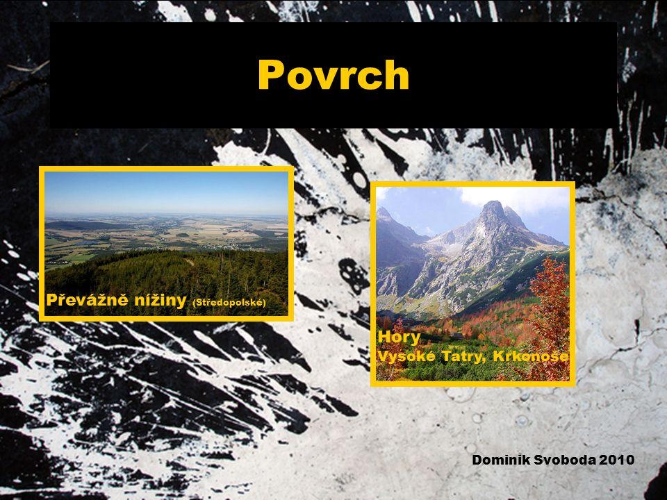 Povrch Převážně nížiny (Středopolské) Hory Vysoké Tatry, Krkonoše Dominik Svoboda 2010
